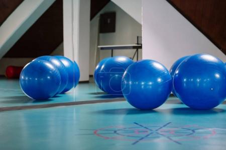 Pilates balls in the gym