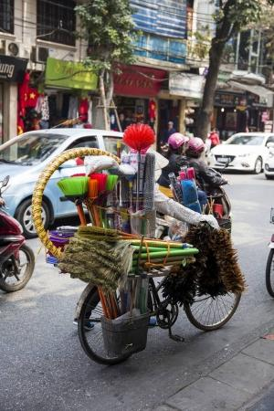 People on a street of Hanoi