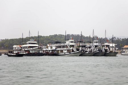 Cruise boats on Halong port