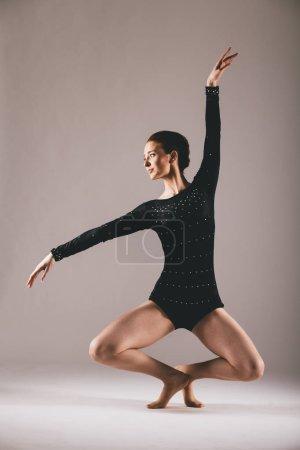 Young ballerina in the studio