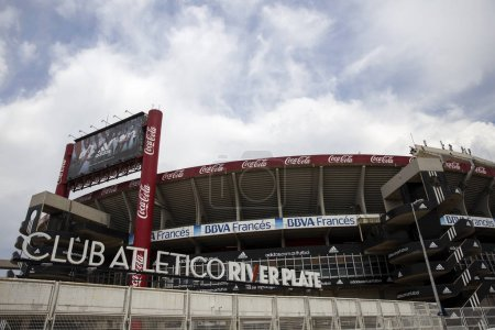 BUENOS AIRES, ARGENTINA - JANUARY 22, 2018: Detail of River Plate Stadium in Buenos Aires, Argentina. This stadium, opened at 1938, is the largest stadium in Argentina.