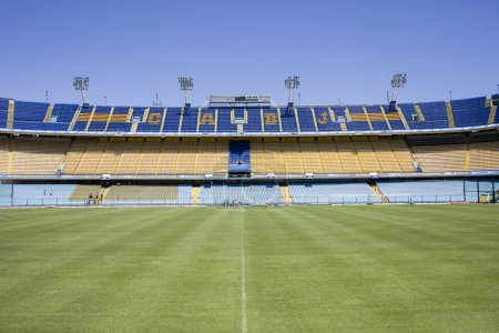 BUENOS AIRES, ARGENTINA - JANUARY 20, 2018: Detail from La bombonera stadium in Buenos aires, Argentina. It is Boca Juniors owned stadium and was built at  1938.