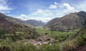 Sacred Valley of the Incas in the Andes of Peru