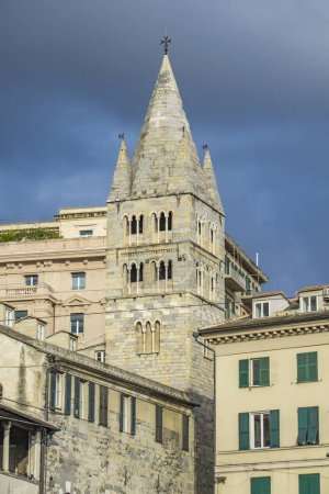 View at Basilica di Santa Maria delle Vigne in Genoa, Italy