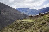 View at Inca ruins in Sacred Valley at Pisac, Peru