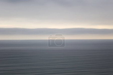View at the calm ocean water horizon