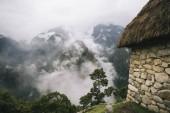 Detail of the stony house at Machu Picchu, Peru