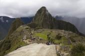 View at the Machu Picchu ruins in Peru