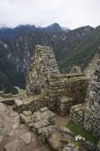 Detail of the Machu Picchu ruins in Peru