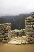 Detail of the Machu Picchu Inca citadel in Peru