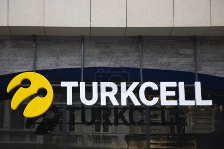 Photo for ISTANBUL, TURKEY - JUNE 15, 2019: Detail of Turkcell store in Istanbul, Turkey. Turkcell is the leading mobile phone operator of Turkey, - Royalty Free Image