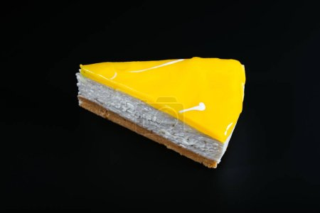 Photo for Fresh lime pie on the dark background - Royalty Free Image