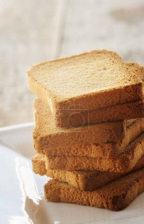 Toast bread close up