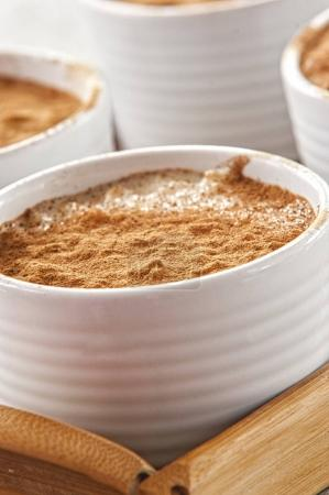 Creamy rice pudding with cinnamon. A simple, nutritious dessert made from rice, milk, eggs, vanilla and sugar.