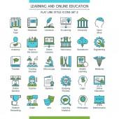 education icons set 02
