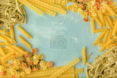 Poster: Penne Mafalde Tagliatelle Spaghetti laid