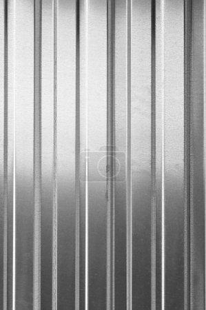 Photo pour Mur en tôle ondulée. Texture de fond - image libre de droit