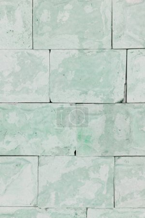 Photo for Wall with panels of green marble. Beautiful background. Imitation of natural material. Free surface. - Royalty Free Image