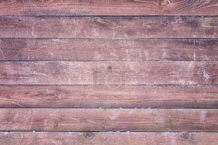 Foto de Vieja valla de madera de color marrón. Fondo con textura de tablas horizontales. - Imagen libre de derechos