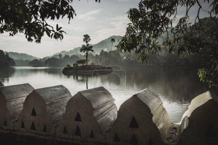 Artificial lake Bogambara and Diyathilaka Mandapaya / Island of