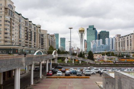 ASTANA, KAZAKHSTAN - SEPTEMBER 13, 2017: Modern buildings - cent