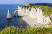 Natural Cliffs in Etretat, France
