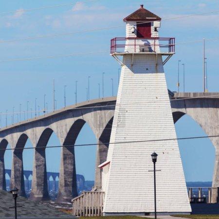 Port Borden Range Rear Lighthouse and Confederation Bridge