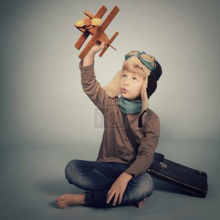 Little boy aviator