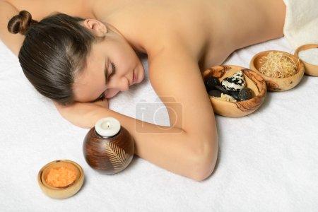 woman in beauty spa salon