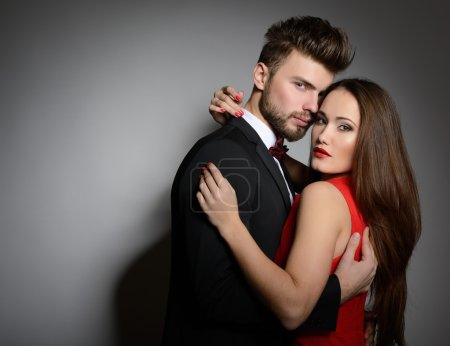 Sexy passion couple in love