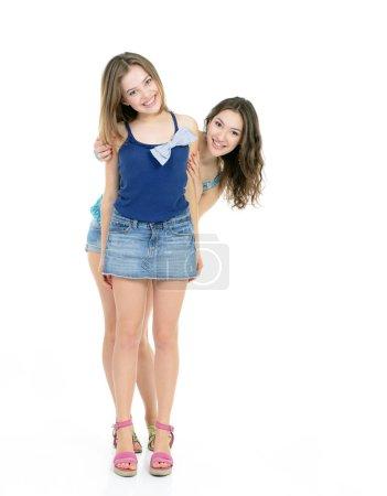 laughing teen girls