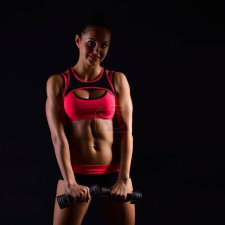 Fitness Muscular woman
