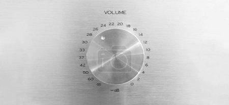 Photo pour Bouton de volume en aluminium avec espace de copie - image libre de droit
