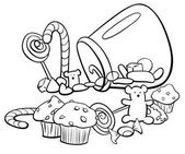 candy group cartoon coloring book