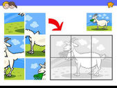 jigsaw puzzles with goat farm animal character