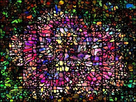 Foto de Patrón de vidrieras coloridas para su uso en proyectos de arte y diseño - Imagen libre de derechos