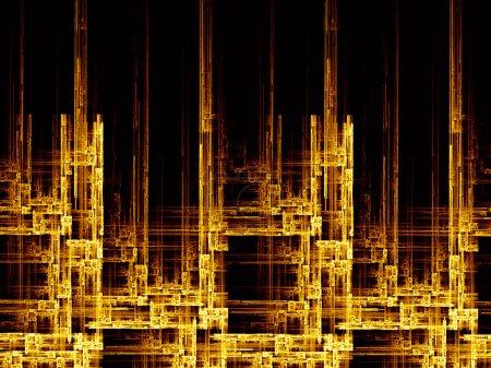Photo pour Structure fractale complexe abstraite au sujet de la topologie, de l'éducation et de la science - image libre de droit