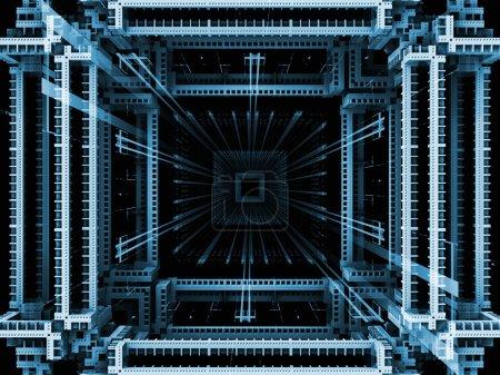 Kubisch abstrakter Hintergrund