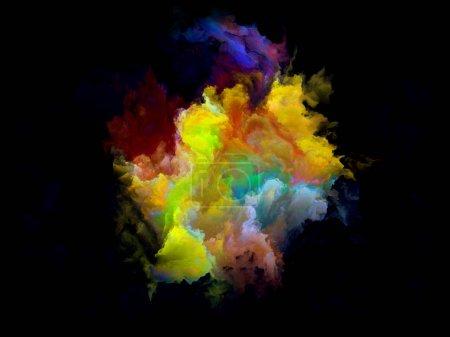 Colorful Fractal Cloud Particle