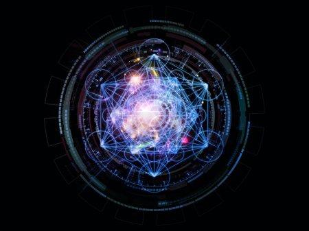 Photo pour Orbites de la série Destiny. Composition des symboles sacrés, de signes, de géométrie et de modèles appropriés comme toile de fond pour les projets sur l'astrologie, alchimie, magie, sorcellerie et voyance - image libre de droit