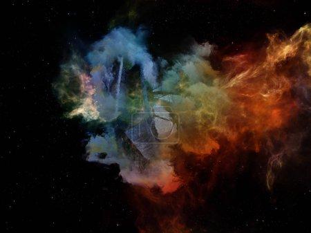 Photo pour Dead Remember série. Conception abstraite faite de formes et de couleurs nébuleuses et organiques sur le sujet de l'esprit, du rêve, de la spiritualité et de l'imagination - image libre de droit
