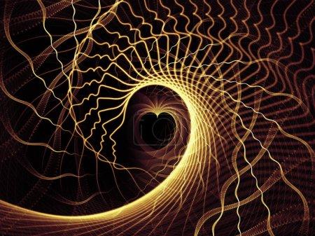 Photo pour Série Strings of Soul Gears of Mind. Composition des profils humains et des lignes fractales pour servir de toile de fond aux projets sur la vie spirituelle, émotionnelle et mentale - image libre de droit