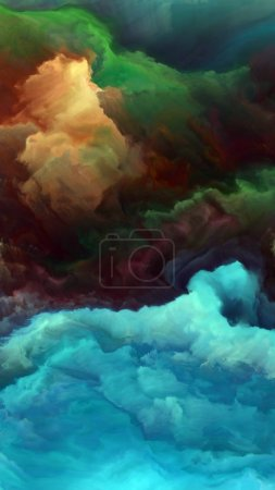Forces In Nature 4K format. Interplay of surreal c...