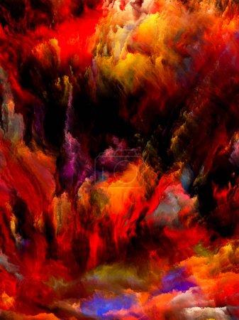 Photo pour On vit en série. Interaction de couleurs intenses sur le sujet du monde intérieur, des rêves et de la spiritualité . - image libre de droit