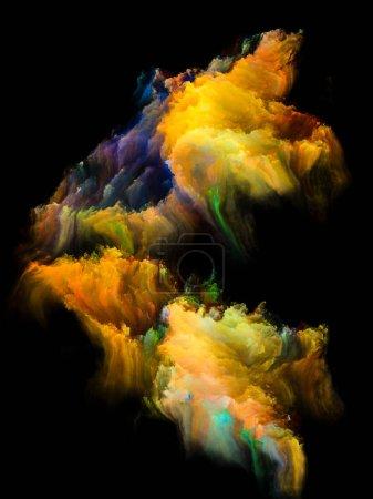 Photo pour Island dans la série Void. Composition abstraite de touffes de peinture numérique adaptées à des projets liés à l'art, à l'illustration et au design - image libre de droit