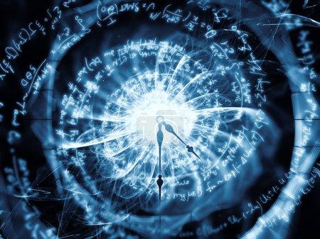 Photo pour Série Nature Geometry. Composition des formules mathématiques et des fractales dans les domaines de la technologie, de la conception, de l'éducation et des sciences - image libre de droit