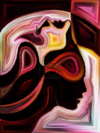 Inner Dialog series. Composition of human profiles...