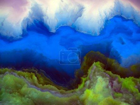 Photo pour Série Alien Worlds. Conception abstraite faite de couleurs surréalistes et de peinture de paysage numérique sur le sujet de la science-fiction, des rêves, des forces de la nature et de l'imagination - image libre de droit