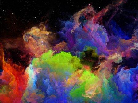 Visualization of Space Nebula