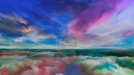 Photo for Inner World series. Composition of digital colors suitable as a backdrop for the projects on Universe, Nature, creativity and imagination - Royalty Free Image